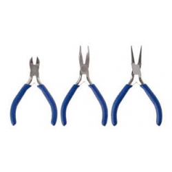 Set of three precision pliers.