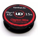clapton wire 2 x 0.4 mm youde represents two resistive wires diameter wound one on the other