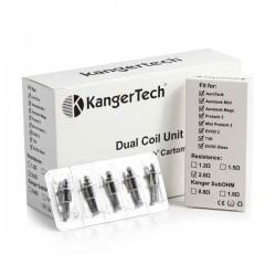 Résistances Dual Coil Unit Kangertech pour clearomiseurs vente