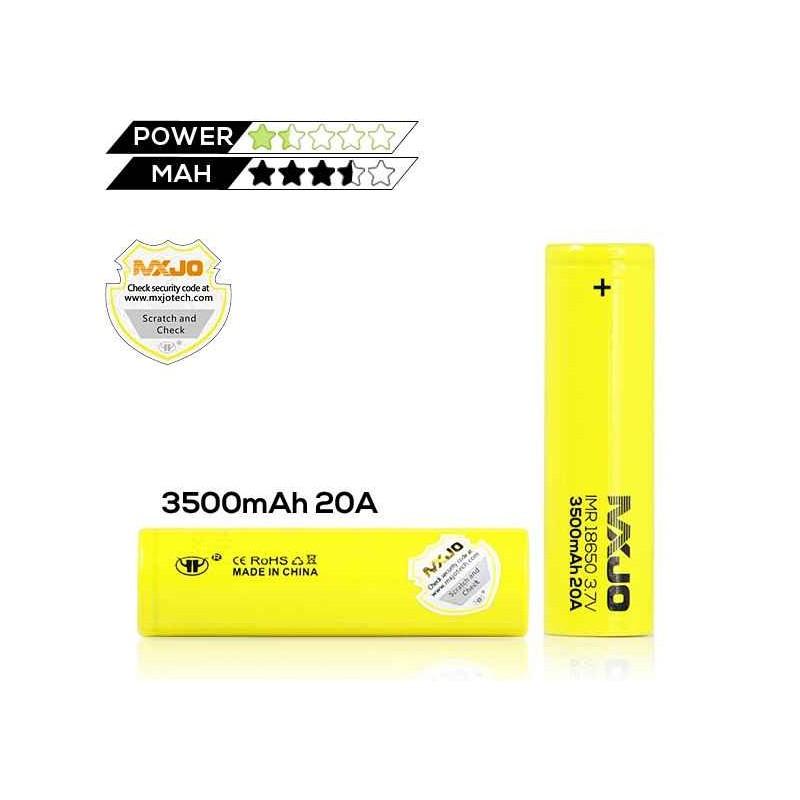 mxjo accu imr 18650 - 3500 mah voor mechanische en elektronische mids