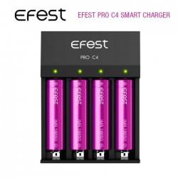 Chargeur Accus Efest Pro C4 pour cigarettes électroniques