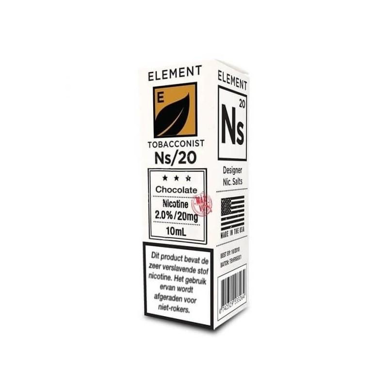 Une envie furieuse de tabac et de chocolat avec ce e-liquide Chocolate Tobacco de Element.