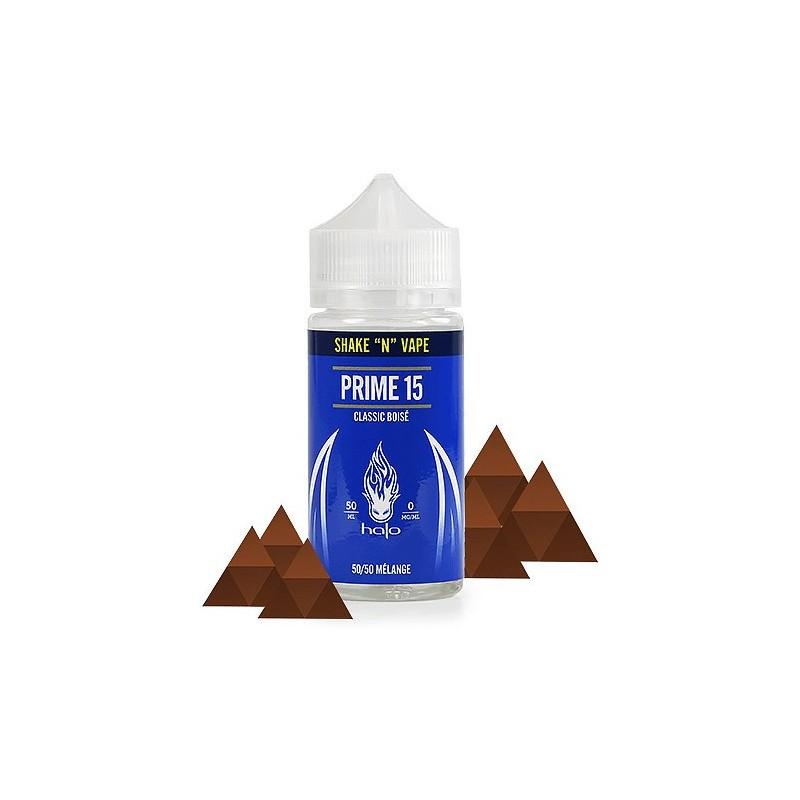Prime 15 Halo, zéro nicotine pour 50 ML.